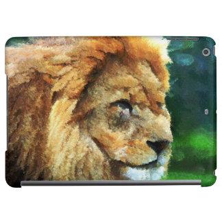 自然の印象派の芸術のライオン iPad AIRケース