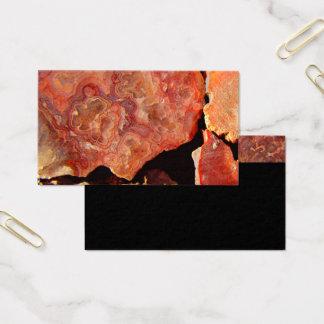 自然の名刺のテンプレートの石パターン 名刺