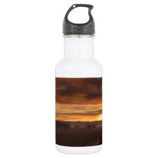 自然の日没暗い夜分野 ウォーターボトル