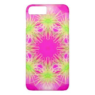 自然の曼荼羅のピンクおよびライム iPhone 8 PLUS/7 PLUSケース