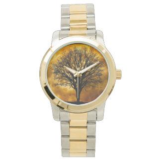 自然の木の腕時計 腕時計