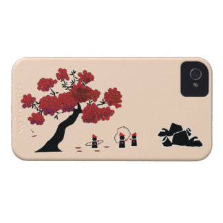 自然の東洋のマンダリンの庭のIphoneの場合 Case-Mate iPhone 4 ケース