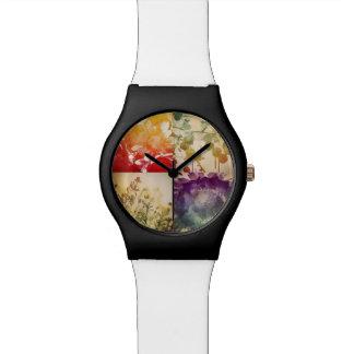 自然の水彩画の腕時計 リストウオッチ