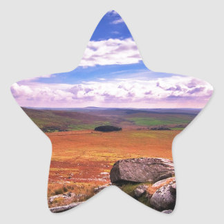 自然の田舎数々のな着色された生命 星シール