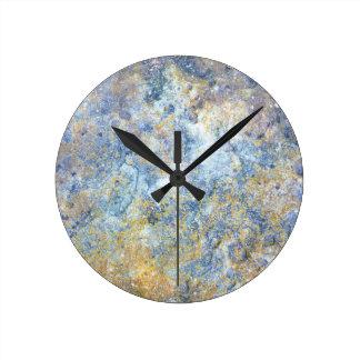 自然の石板の石の石の写真の柱時計 ラウンド壁時計