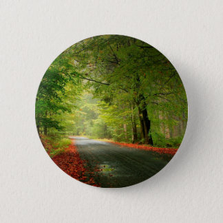 自然の道の春の森 5.7CM 丸型バッジ