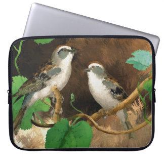 """自然の鳥のすずめの抽象芸術、15""""ラップトップスリーブ ラップトップスリーブ"""