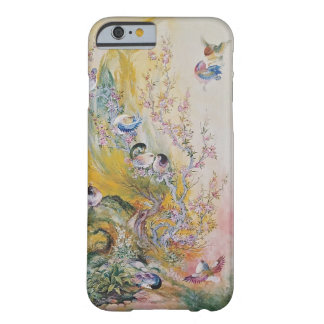 自然のiPhone 6のプラスの場合のカラフルなピンクの鳥 Barely There iPhone 6 ケース