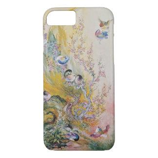 自然のiPhone 7のプラスの場合のカラフルなピンクの鳥 iPhone 8/7ケース