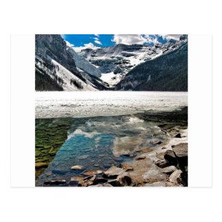 自然のwinter霜の降りたな湖山 ポストカード