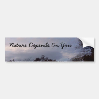 自然はあなたによって決まります バンパーステッカー