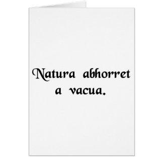 自然は真空をひどく嫌います カード