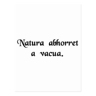 自然は真空をひどく嫌います ポストカード