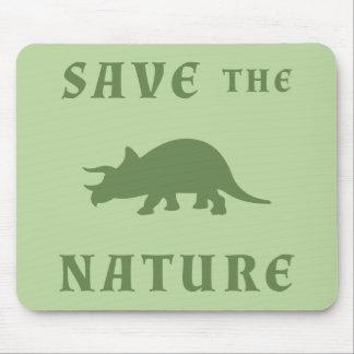 自然を救って下さい マウスパッド