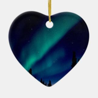自然力のオーロラBorealisアラスカ セラミックオーナメント
