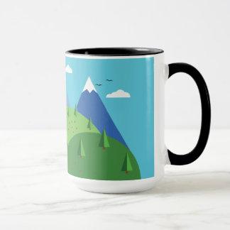 自然場面 マグカップ