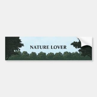 自然恋人の景色のパノラマのバンパーステッカー バンパーステッカー