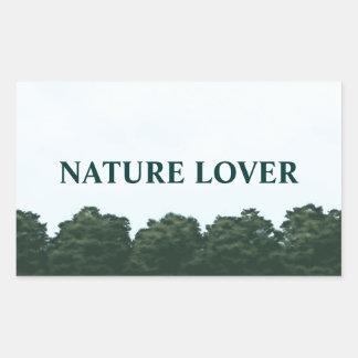 自然恋人の景色のパノラマ 長方形シール