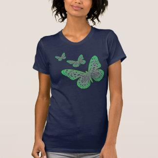自然恋人の青緑の庭の蝶 Tシャツ
