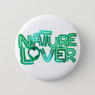自然恋人ボタン 5.7CM 丸型バッジ