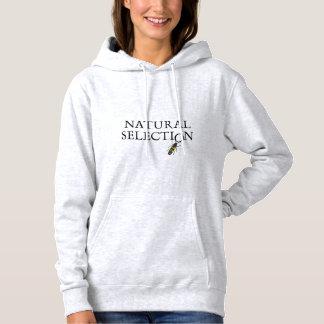 自然淘汰のフード付きスウェットシャツ パーカ