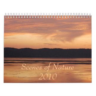 自然2010のカレンダーの場面 カレンダー