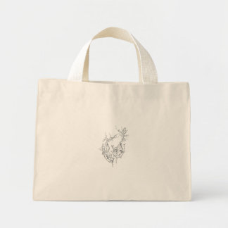 自然、Intrigma著元の芸術の手 ミニトートバッグ