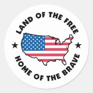 自由および勇敢 ラウンドシール