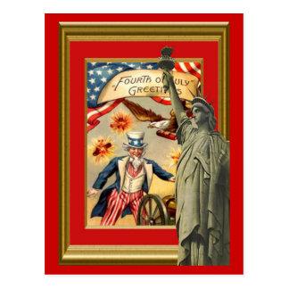 自由および米国市民 ポストカード