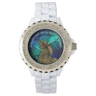 自由が住むところ(活気に満ち着色されて) 腕時計