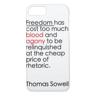 自由が修辞がないために注意しないで下さい iPhone 8/7ケース