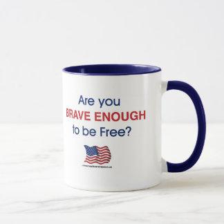 自由である十分に勇敢ですか。 -マグ マグカップ