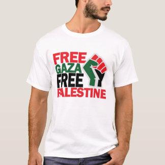 自由で安全なガザパレスチナ Tシャツ