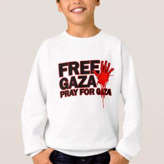 自由で安全なガザパレスチナH.png スウェットシャツ