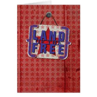 自由で素朴なドアの幸せな復員軍人の日の土地 カード