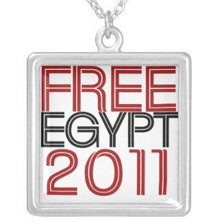 自由なエジプト シルバープレートネックレス