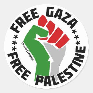 自由なガザはパレスチナを放します ラウンドシール