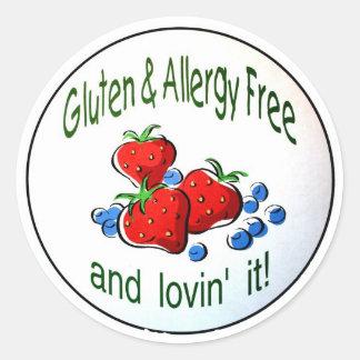 「自由なグルテンおよびアレルギー…」 ステッカー