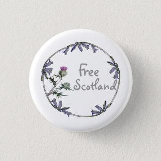 自由なスコットランドのアザミのBluebellの独立ボタン 3.2cm 丸型バッジ