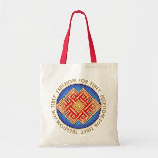 自由なチベットの無限の結び目のトートバック トートバッグ
