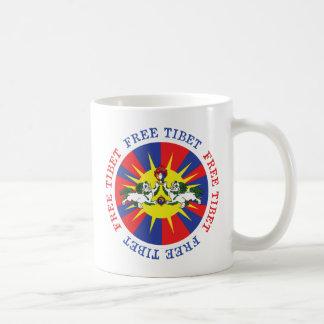 自由なチベットの雪のライオンおよび独立スローガン コーヒーマグカップ