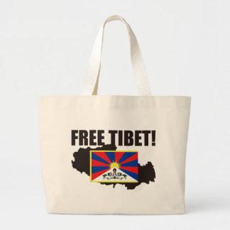 自由なチベット! チベットを救って下さい! ラージトートバッグ