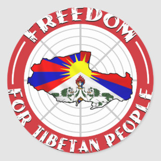 自由なチベット 丸形シールステッカー