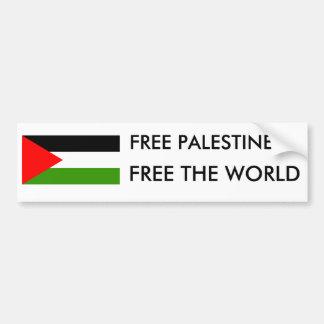 自由なパレスチナは、世界を放します バンパーステッカー