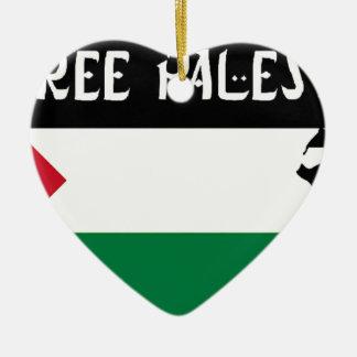 自由なパレスチナ- فلسطينعلم -パレスチナの旗 セラミックオーナメント