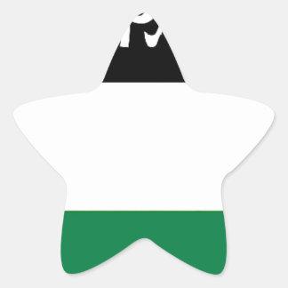 自由なパレスチナ- فلسطينعلم -パレスチナの旗 星シール