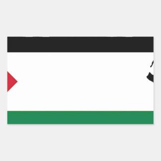 自由なパレスチナ- فلسطينعلم -パレスチナの旗 長方形シール