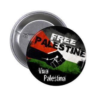 自由なパレスチナ- Viva Palestina 5.7cm 丸型バッジ