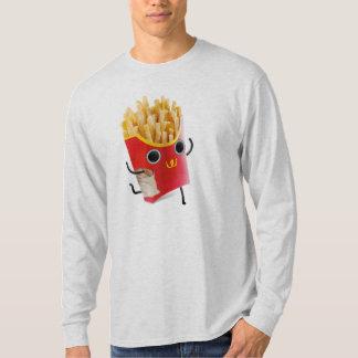 自由なフライドポテトのLong-sleeved長袖シャツを感じること Tシャツ