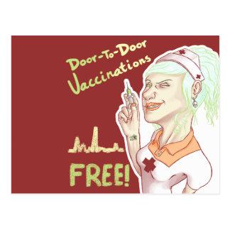 自由なワクチン ポストカード